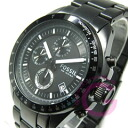 FOSSIL ( fossil ) CH2601 DECKER / Decker chronograph metal belt watch