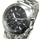 FOSSIL (フォッシル) CH2814 KEATON Keeton chronograph metal belt black men watch watch