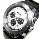 FOSSIL (フォッシル) CH2856 RETRO TRAVELER nostalgic traveler chronograph double leather belt black men watch watch