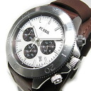 FOSSIL (フォッシル) CH2857 RETRO TRAVELER nostalgic traveler chronograph double leather belt brown men watch watch