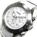 FOSSIL (フォッシル) CH2858 RETRO TRAVELER nostalgic traveler chronograph double leather belt white men watch watch