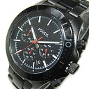 FOSSIL (フォッシル) CH2863 RETRO TRAVELER nostalgic traveler chronograph metal belt oar black men watch watch