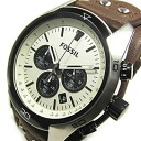 FOSSIL (フォッシル) CH2890 COACHMAN/ coach man chronograph leather belt men watch watch