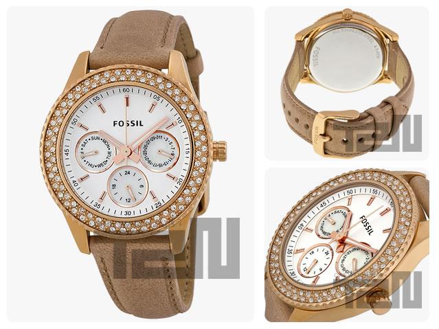 FOSSIL (フォッシル)ES3104 STELLA /ステラ インダイアルカレンダー レディースウォッチ 腕時計