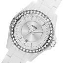 FOSSIL (fossil) ES3251 Riley and Riley Crystal decorative resin belt white ladies watch watches