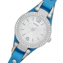 FOSSIL ( fossil ) ES3474 Georgia / Georgia Mini Crystal decorative leather belt light blue ladies watch watches