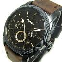 FOSSIL (フォッシル) FS4656 MACHINE machine chronograph leather belt brown men watch watch