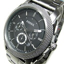 FOSSIL (フォッシル) FS4662 MACHINE machine chronograph metal belt gunmetal men watch watch