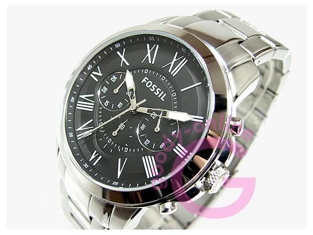 FOSSIL (フォッシル) FS4736 GRANT/グラント クロノグラフ メタルベルト カジュアル 腕時計