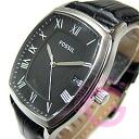 FOSSIL ( fossil ) FS4742 ANSEL / Ansel tonneau leather belt black casual men's watch