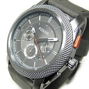 FOSSIL (フォッシル) FS4777 MACHINE machine chronograph leather belt gunmetal men watch watch