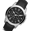 FOSSIL ( fossil ) FS4812 Grant / grant chronograph leather belt black / silver watch