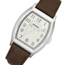 FOSSIL ( fossil ) FS4880 Narrator, Narrator leather belt Brown / silver watch