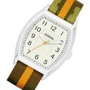 FOSSIL ( fossil ) FS4914 Narrator, Narrator nylon belt White Dial men's watch