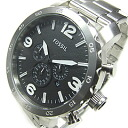 FOSSIL (フォッシル) JR1353 NATE/ Nate chronograph metal belt silver men watch watch