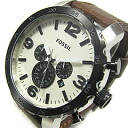 FOSSIL (フォッシル) JR1390 NATE/ Nate chronograph leather belt brown men watch watch