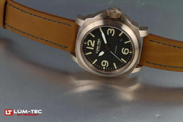 LUM-TEC(ルミテック) M53 Mブロンズ 自動巻き 日本ムーブメント搭載 替えベルト付き メンズウォッチ 腕時計