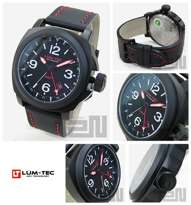 LUM-TEC(ルミテック) M59 Mクォーツ ロンダクォーツ搭載 替えベルト付き チタンカーバイドPVD メンズウォッチ 腕時計