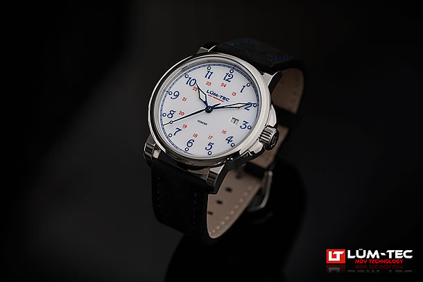 LUM-TEC (ルミテック)RR1 Autoシリーズ 43mm 日本製 Miyota 9015自動巻きムーブメント搭載  シルバー メンズウォッチ 腕時計