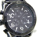 NIXON (Nixon) THE 42-20 Chrono SS A037-001/A037001 ALL BLACK / black chronograph mens watch