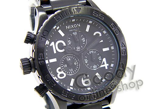 腕時計【NIXON(ニクソン) THE 42-20 Chrono SS A037-001 ALL BLACK/ブラック クロノグラフ メンズ 腕時計】