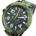 51-30 NIXON (Nixon) THE Chrono chronograph 51mm watch A083-1428/A0831428 MATTE BLACK X CAMO ducks (camouflage pattern) men's watch