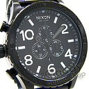 51-30 (Nixon fifty one thirty) NIXON THE A083-001/A083001 ALL BLACK/ black chronograph 300m waterproofing men watch