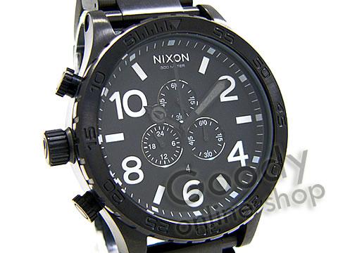 腕時計【NIXON THE 51-30(ニクソン フィフティワン・サーティー) A083-001 オールブラック クロノグラフ 300m防水 メンズ 腕時計】