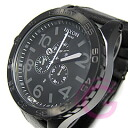 51-30 NIXON (Nixon) THE Chrono A124-001/A124001 chronograph leather belt oar black men watch watch