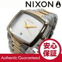NIXON (Nixon) THE PLAYER / players A140-1431/A1401431 diamond index gold / silver metal belt watch