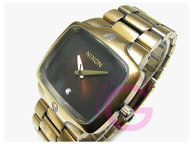 NIXON(ニクソン) プレイヤー A140-581/A140581 アンティークゴールド×ブラック 腕時計