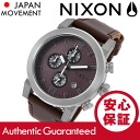 NIXON (Nixon) A315-562/A315562 THE RIDE / ride chronograph leather belt Brown mens watch watches