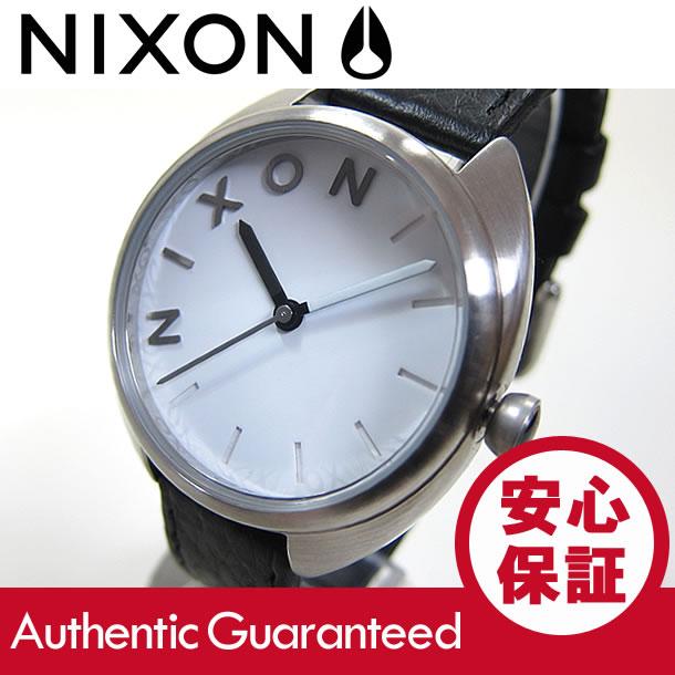 NIXON (ニクソン) A318-100/A318100 THE WIT/ウィット ラバーベルト ブラック×シルバー レディースウォッチ 腕時計