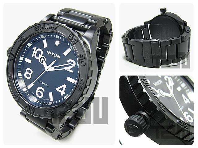 NIXON(ニクソン) THE 51-30 TI A351-001/A351001 チタニウム メンズウォッチ 腕時計