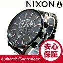 NIXON (Nixon) A386-001/A386001 CHRONO SENTRY, Sentry-Chrono all black black metal belt watch