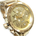48-20 NIXON (Nixon) THE 1/20 second chronograph 48mm watch A486-502/A486502 ALL GOLD oar gold men watch