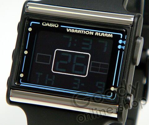 腕時計【CASIO POPTONE (カシオ ポップトーン) LDF-10-1AVDR/LDF10-1AVDR 振動予告機能 デジタル ユニセックス 腕時計】