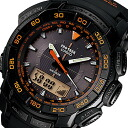 CASIO PROTREK ( Casio protrek ) PRG-550-1A4/PRG550-1A4 triple sensor tough solar powered an analog-digital black × orange outdoor watches