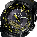 CASIO PROTREK ( Casio protrek ) PRG-550-1A9/PRG550-1A9 triple sensor tough solar powered an analog-digital black × yellow outdoor watches