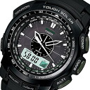 CASIO PROTREK ( Casio protrek ) PRG-S510-1/PRGS510-1 triple sensor tough solar powered an analog-digital black outdoor watches