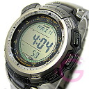 CASIO PROTREK ( Casio protrek ) PRG-110T-7/PRG 110T-7 triple sensor tough solar powered Titan belt watch