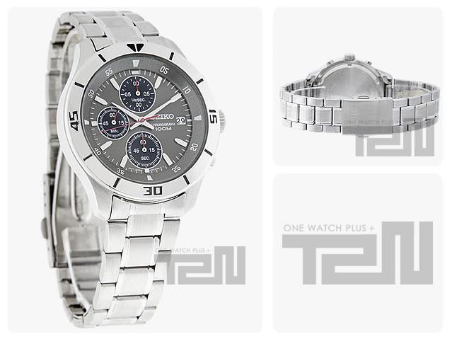 SEIKO (セイコー)SKS407 クロノグラフ グレーダイアル メタルベルト メンズウォッチ 腕時計