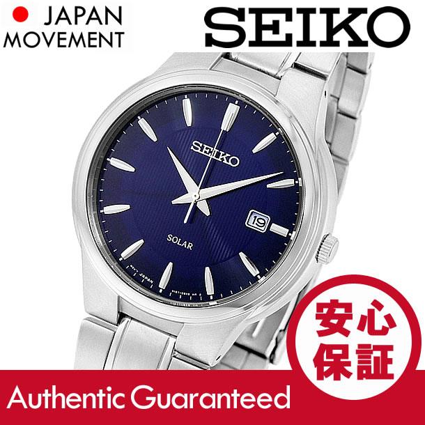 SEIKO (セイコー)SNE403 SOLAR/ソーラー メタルベルト ブルーダイアル メンズウォッチ 腕時計