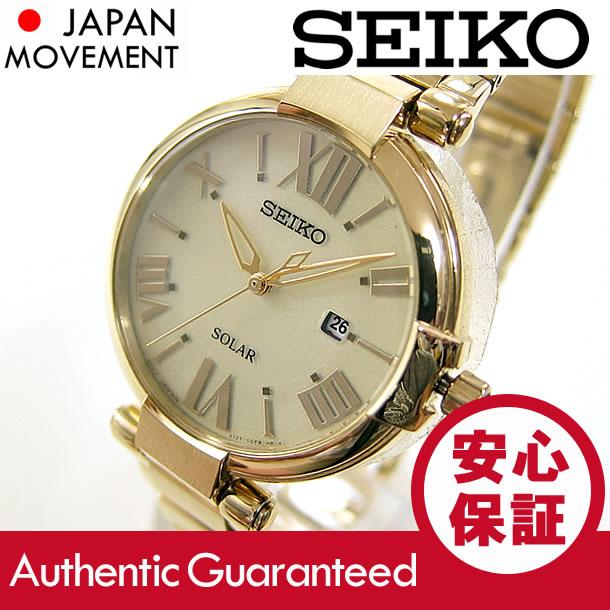 SEIKO (セイコ)SUT176 SOLAR/ソーラー レディースウォッチ 腕時計
