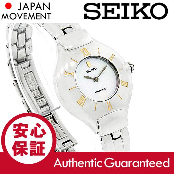 SEIKO (セイコー)SWE002 Kinetic/キネティック マザーオブパール メタルベルト レディースウォッチ 腕時計