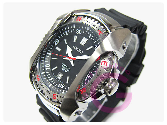 SEIKO(セイコー) SNQ091P1 パーペチュアルカレンダー ウレタンベルト メンズウォッチ 腕時計