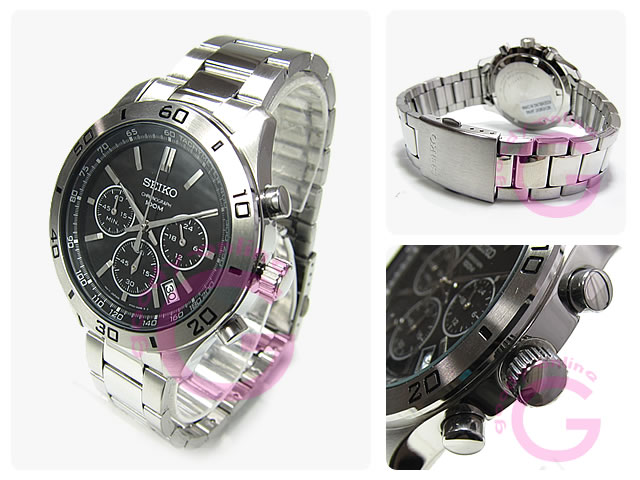 SEIKO(セイコー) SSB049P1 クロノグラフ メタルベルト メンズウォッチ 腕時計