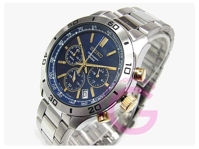 SEIKO(セイコー) SSB055P1 クロノグラフ メタルベルト メンズウォッチ 腕時計