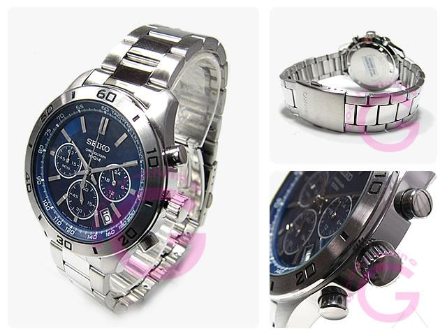 SEIKO(セイコー) SSB059P1 クロノグラフ メタルベルト メンズウォッチ 腕時計