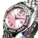 SEIKO (SEIKO) SXDE47P1 quartz rhinestone bezel pink lady Swatch watch